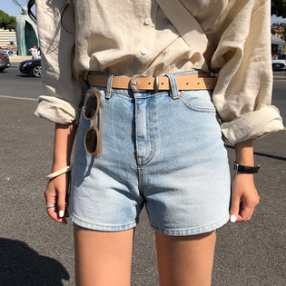 timber denim shorts ; 2 color